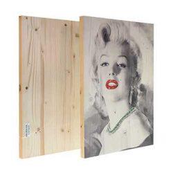 fotoquadro in legno fronte e retro stampato