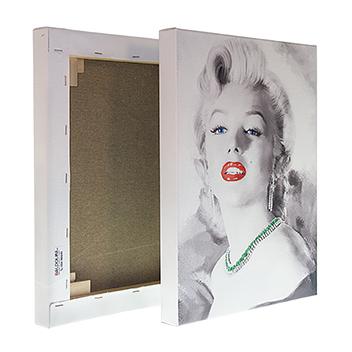 fotoquadro in tela canvas fronte e retro stampato