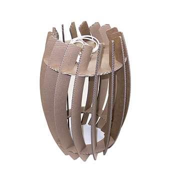 lampada di cartone modello rigel