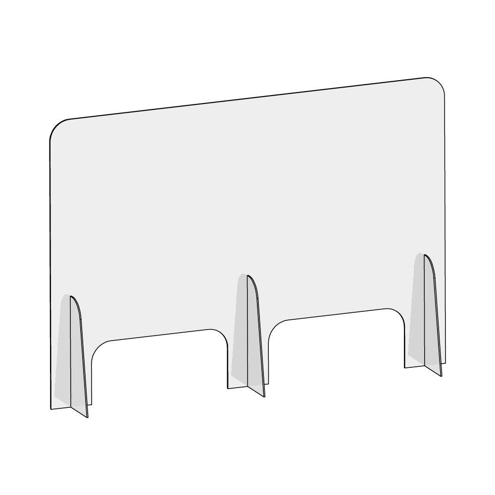 barriera-protettiva-wally-100x70-dritta-disegno prospettiva senza quote