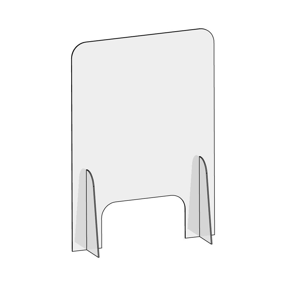 barriera protettiva wally 50x70 dritta disegno prospettiva senza quote