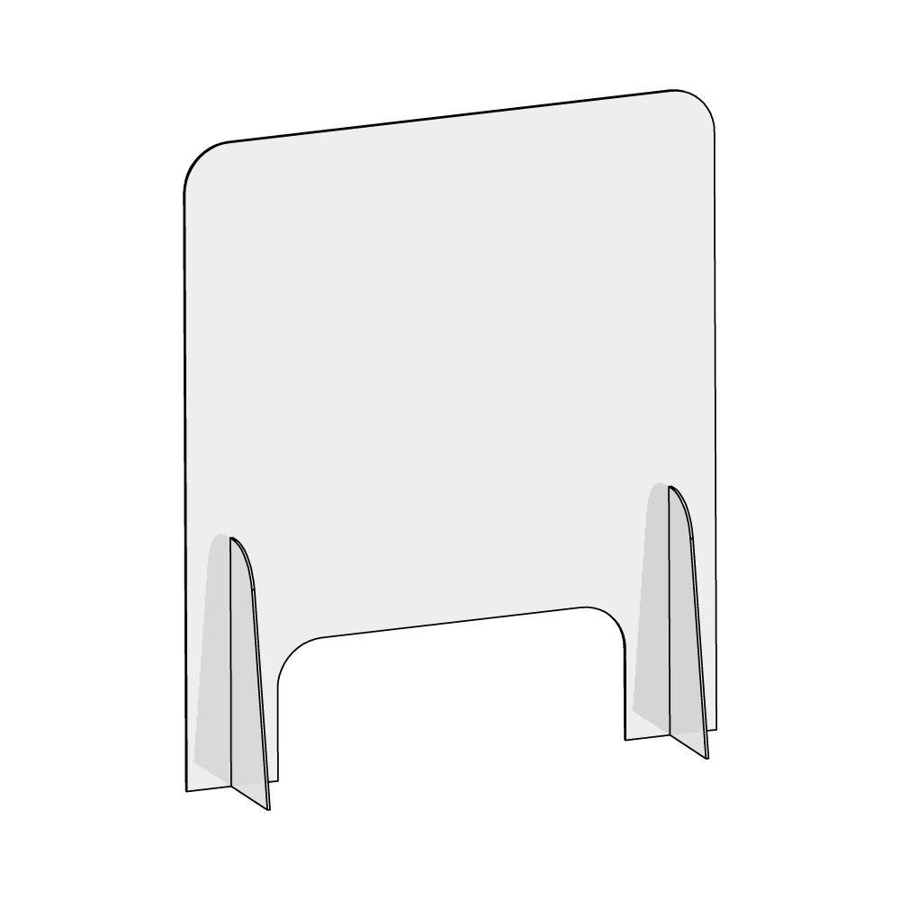 barriera protettiva wally 60x70 dritta disegno prospettiva senza quote